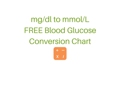 Blood Glucose Conversion Chart Mgdl To Mmoll